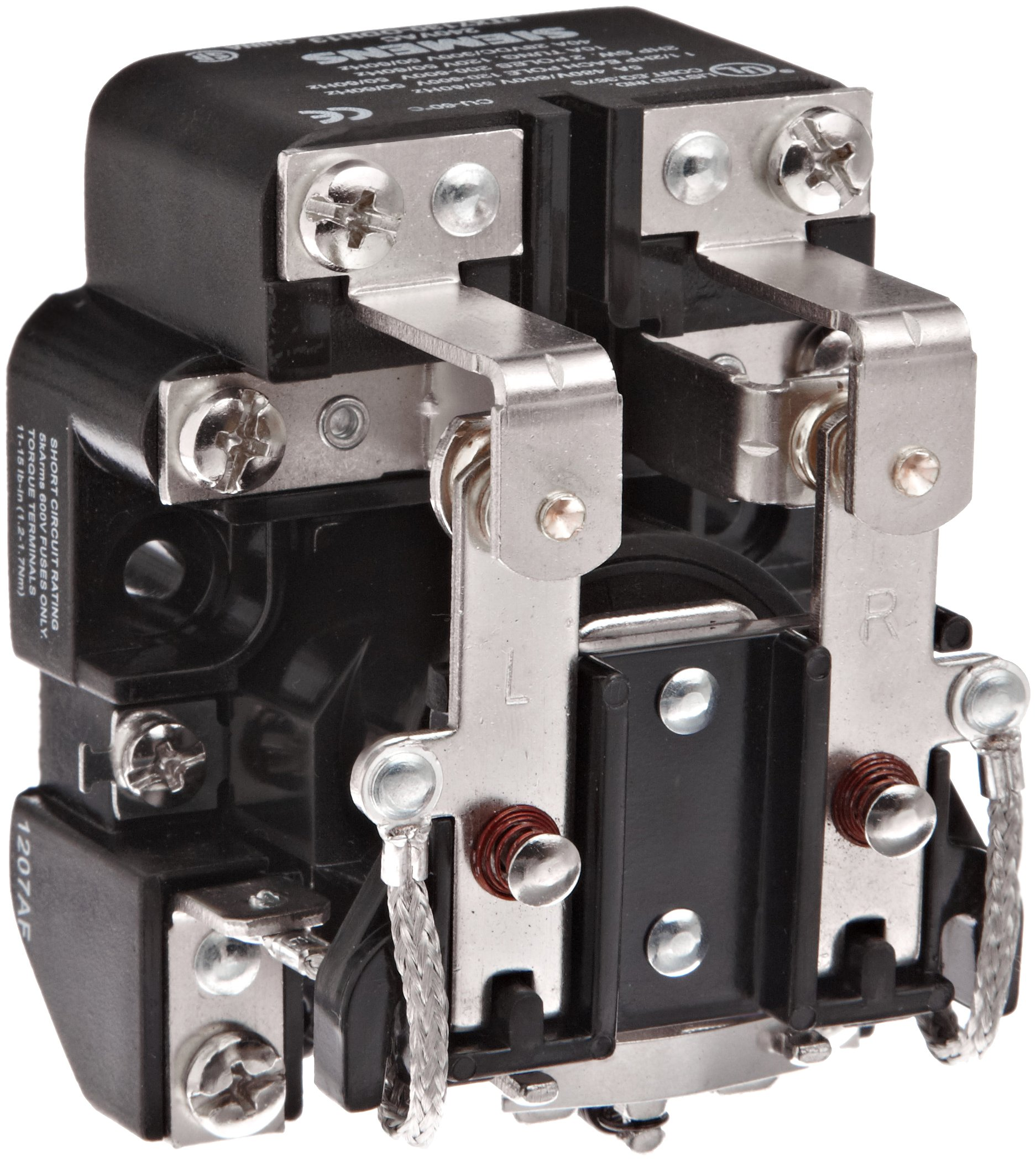 Siemens 3TX7130-0DH13 Basic Plug In Open Power Relay, DPDT Contacts, 40A Contact Rating, 240VAC Coil Voltage