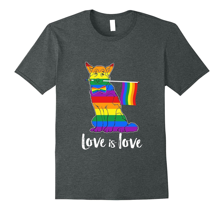 Alaskan Malamute Love is love Gay Pride T-Shirt-Art