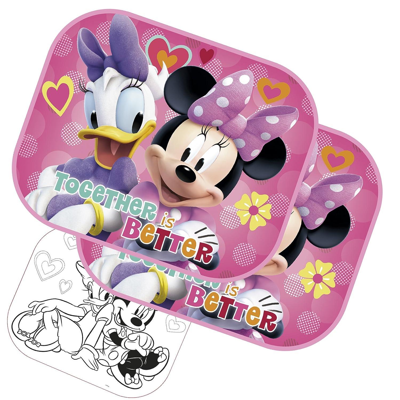 2x Sonnenschutz Auto Sonnenrollo Kinder Baby Sonnenschutz - Minnie Mouse - Minnie & Daisy Bilira_Kids