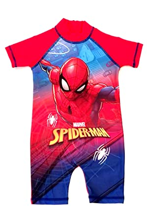 95cdcff509 Marvel Spiderman Boys Girls Swimwear, surf Suit, Swimming Costume:  Amazon.co.uk: Clothing