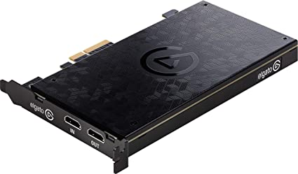 Elgato Game Capture 4K60 Pro - Capturadora de juegos (Xbox 360, PlayStation o Nintendo) con una imagen de 4K 60FPS Captura, PCI x4 (Interno), tecnología de latencia ultrabaja, Negro: Amazon.es: Informática