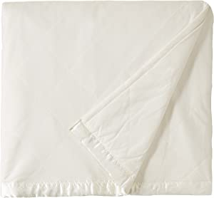 Shavel Home Products Micro Flannel Solid Electric Heated Blanket, Twin, Ivory