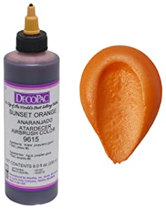DecoPac Airbrush Color, Sunset Orange, .6 Pound