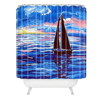 Deny Designs Renie Britenbucher Pink Sunset Sail Shower Curtain 69quot