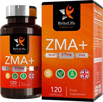 ZMA+ (Suplemento de Zinc, Magnesio y Vitamina B6) - 375 mg por ...