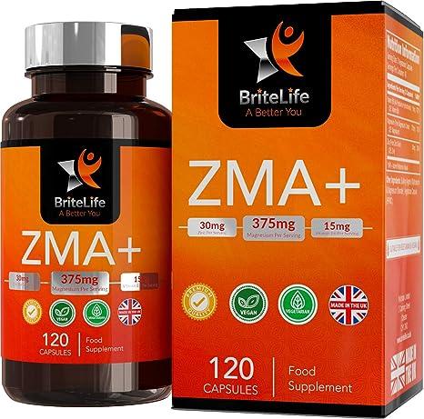 ZMA+ (Suplemento de Zinc, Magnesio y Vitamina B6) - 125 mg por porción