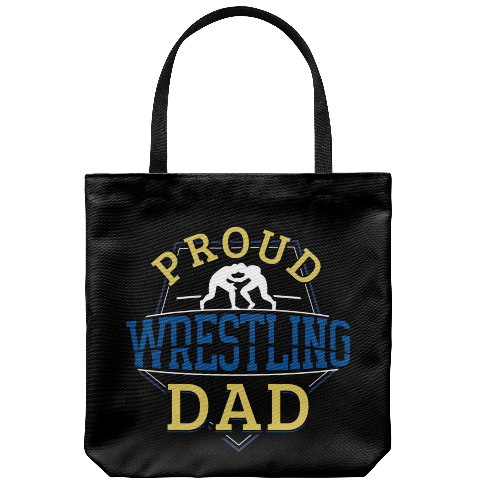 Wrestling Dad Canvas Tote Bag Funny Father's Day Wrestler Gifts Proud - Proud Dad