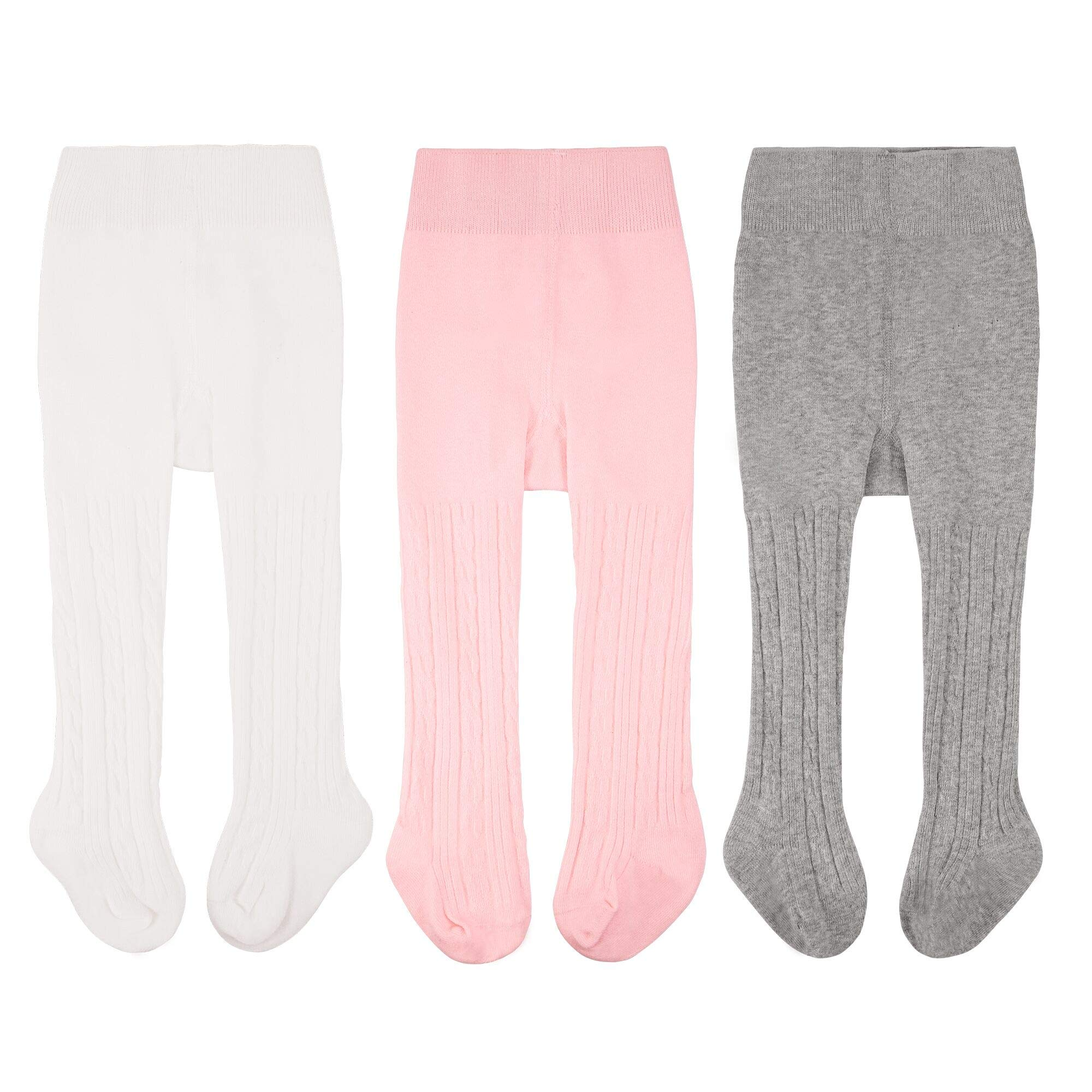 Infant Baby Tights Toddler Girls Leggings Stocking Kid Cable Knit Pantyhose Pants for 6 Pack 0-8t