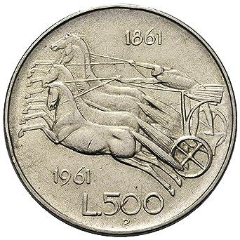 """ea76877457 Italia 500 lire Argento""""Centenario dell'Unità d'Italia"""" Bighe (11"""
