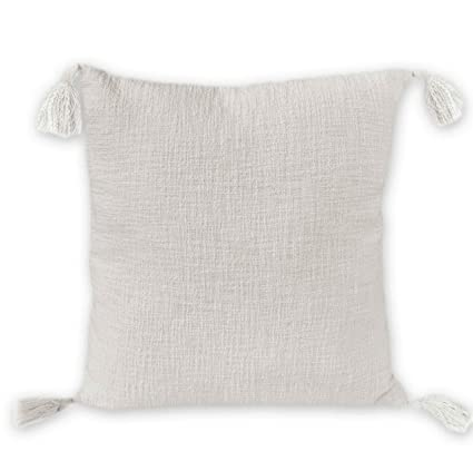 Nielsen Diseño Zoe Funda de cojín, 100% algodón, Blanco, 45 ...