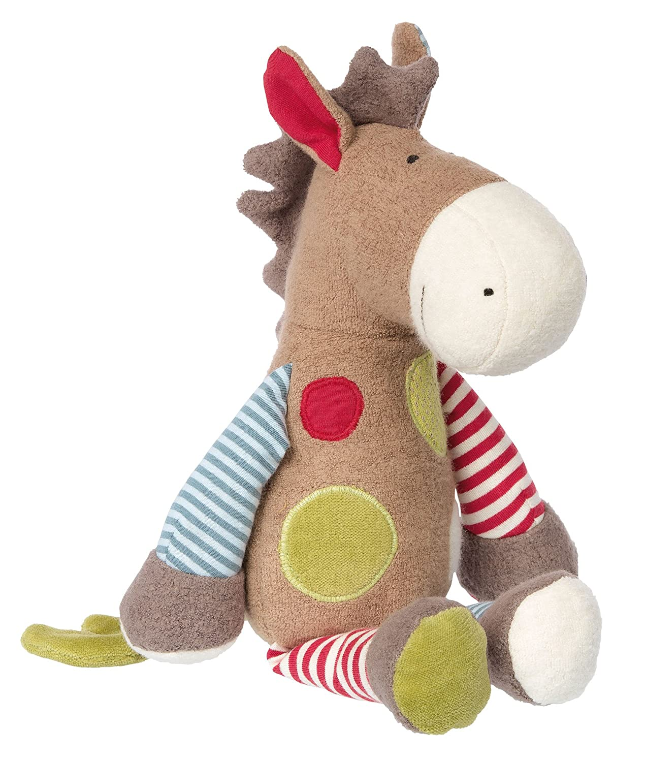 Enfant Mixte Peluche Cheval Patchwork Green