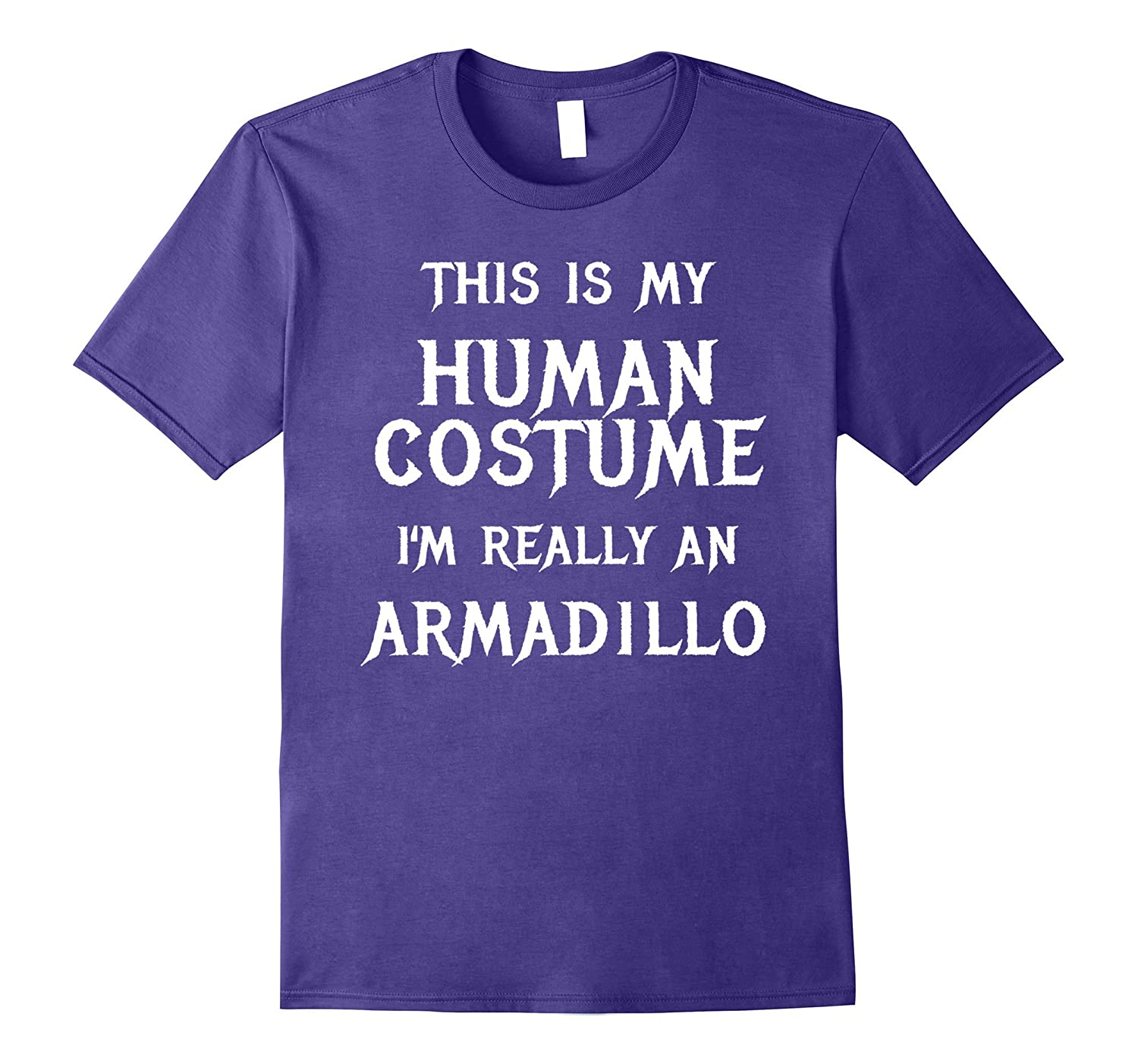 Armadillo Halloween Costume Shirt Easy Funny for Kids Adults-T-Shirt