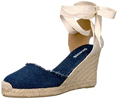86e77dafea1 Soludos Women's Tall Denim Espadrille Wedge Sandal