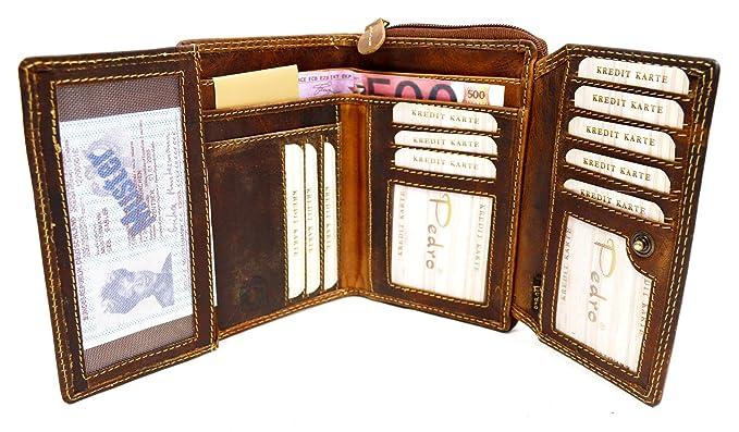 62a7ae307b568 flevado Damen Wasserbüffelleder Geldbörse German Design Vollleder  Brieftasche