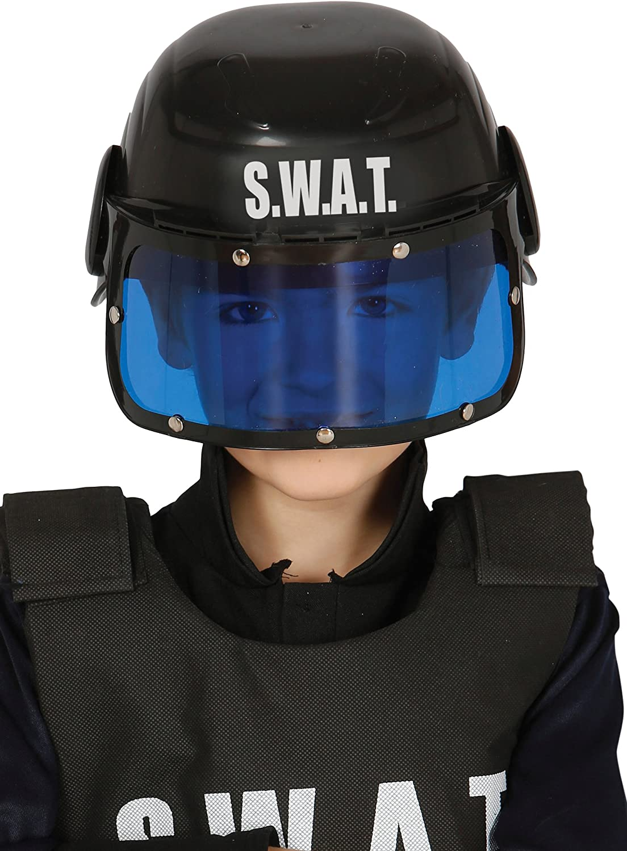 Guirca 13365.0 - Casco policía S.W.A.T Infantil, Talla única ...