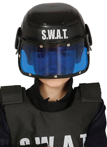 Guirca Casco policía S.W.A.T Infantil, Talla única (13365.0)