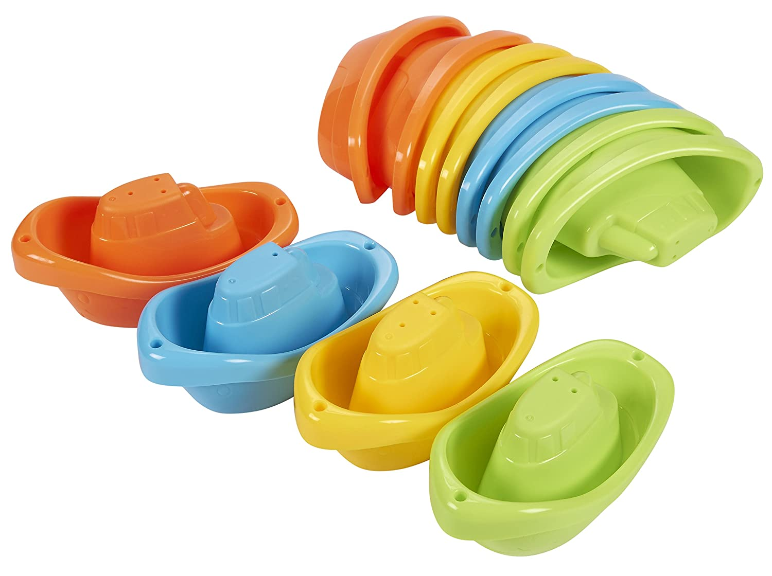 free shipping Bath Toy Boats - 12 Pack of Stackable Plastic Kids ...