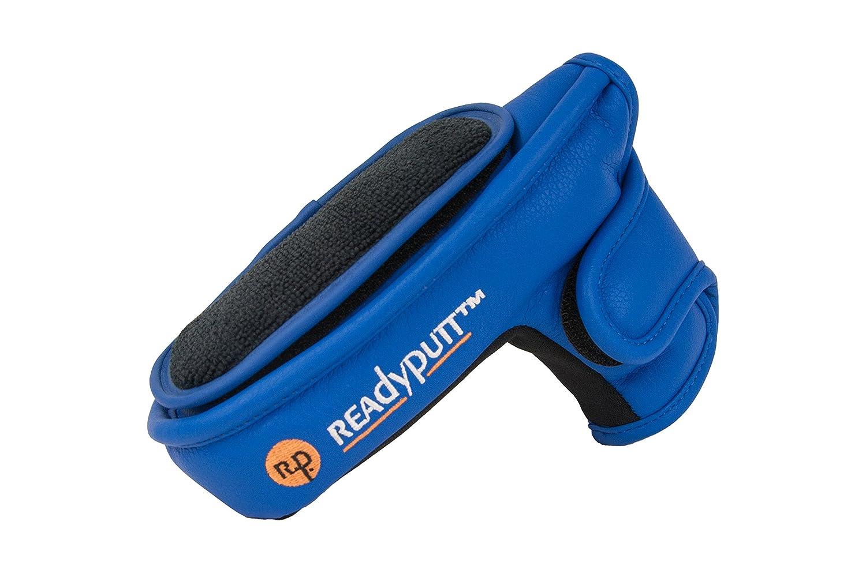 ReadyPutt: パターカバー ボールクリーナーブレード付き/ミッドマレットスタイル - 複数の色 B00X59H36W ブルー ブルー