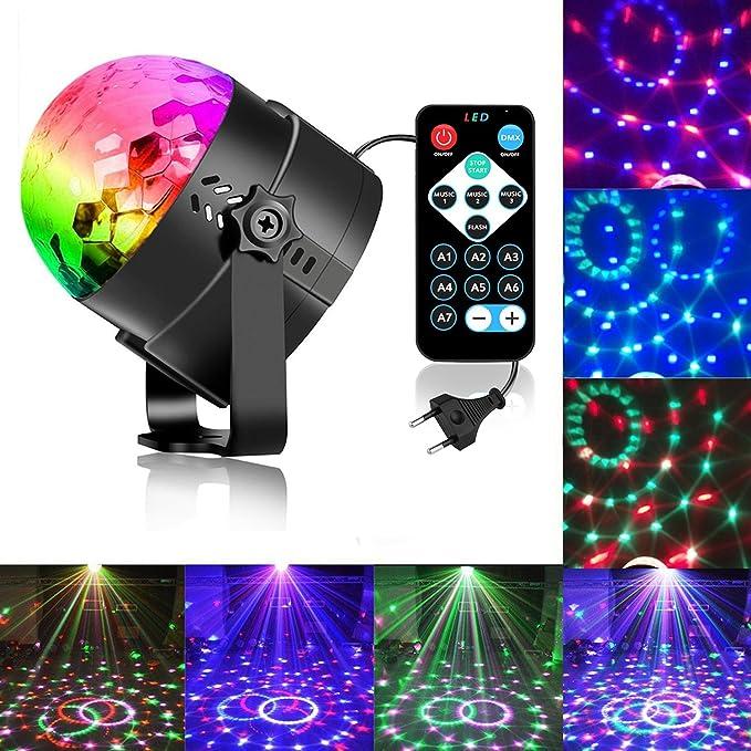Zacfton Mini LED Lichteffekte Disco Licht Party Licht Bühnenbeleuchtung 3W RGB Sprachaktiviertes Kristall Magic Ball Bühnenli