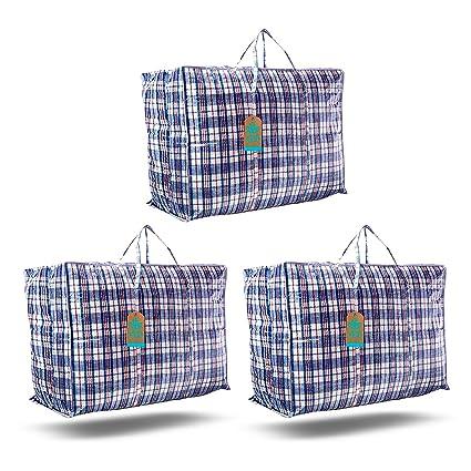 Xen Labs - Bolsas de lavandería Grandes y Resistentes con Cremallera, Impermeables, Organizador de Armario de la Compra, Bolsas de mudanza, Estante ...