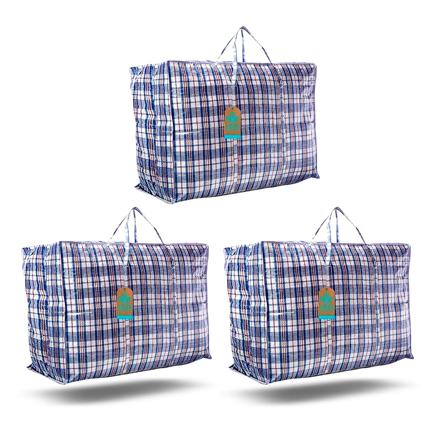 Xen Labs Large Strong Zip Waterproof Laundry Bags Shopping Mrs Hinch Closet Organiser Heavy Duty Moving Bags Garment Rack Travel 3 Pack Buy Online In Cayman Islands At Cayman Desertcart Com Productid 93848009