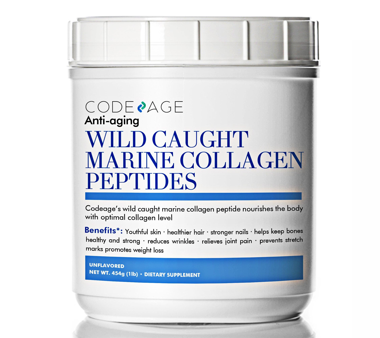 Premium Anti-Aging Marine Collagen Powder 16oz - 100% Wild-Caught Hydrolyzed Fish Collagen Peptides - Type 1 & 3 Collagen Protein Supplement - Paleo Friendly, Non-GMO, Gluten Free