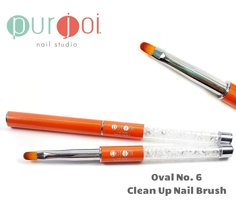 Amazon.com : Nail Art Acrylic Gel Clean Up Brush Nail Art Tools Nail ...