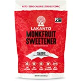 Lakanto Monkfruit Sweetener - 1:1 White Sugar Substitute, Zero Calorie, Keto Diet Friendly, Zero Net Carbs, Zero Glycemic, Ba