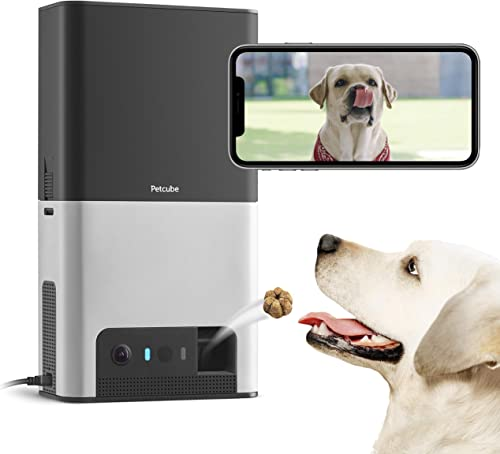 New 2020 Petcube Bites 2 Wi-Fi Pet Camera with Treat Dispenser Alexa Built-in, for Dogs and Cats. 1080p HD Video, 160 Full-Room View, 2-Way Audio, Sound Motion Alerts, Night Vision, Pet Monitor