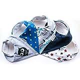 Lovjoy Bandana Baby Bibs - Pack of 5 Boys Designs (Little Star)