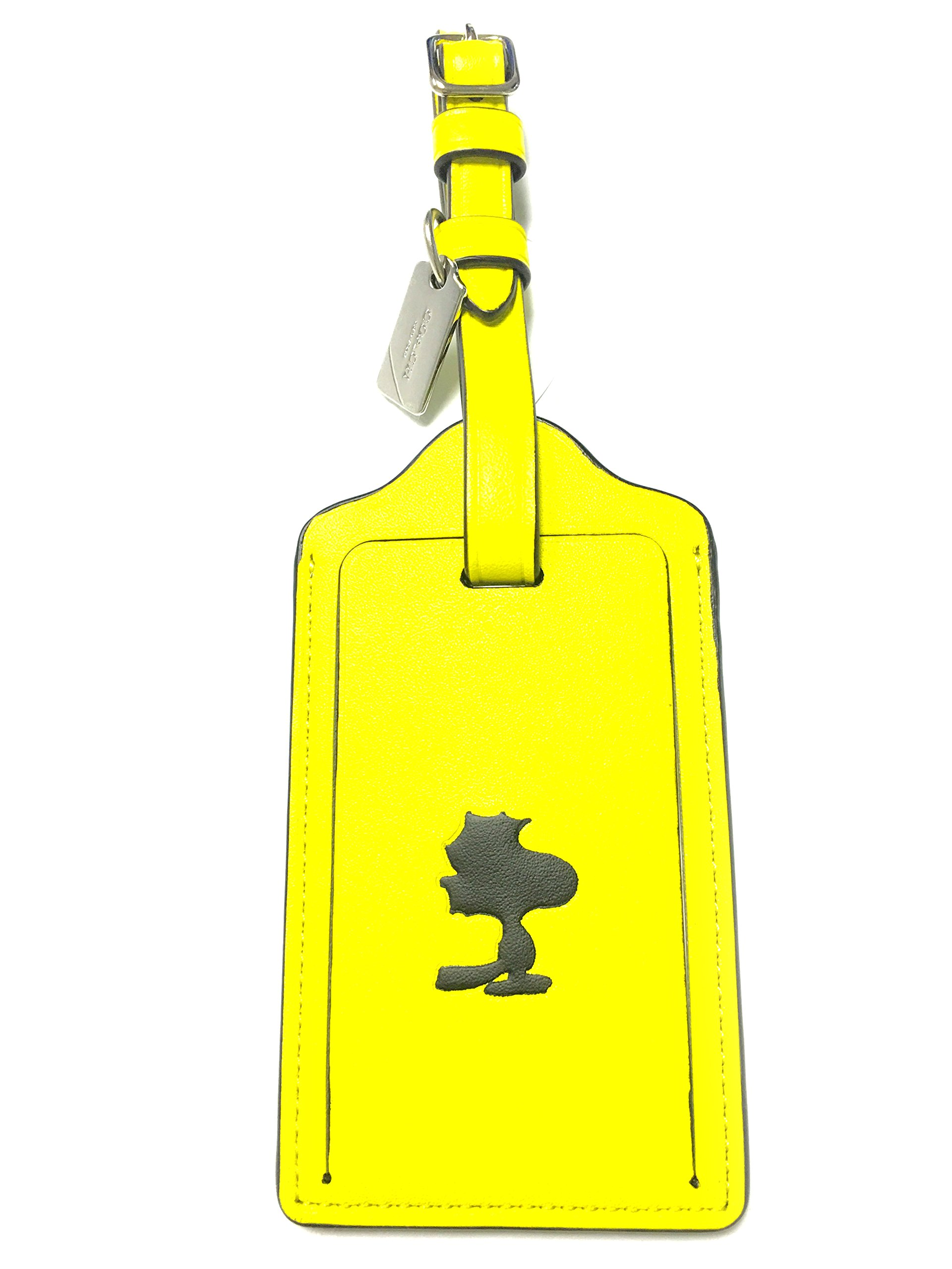 Coach X Peanuts Snoopy Leather Luggage Tag Limited Edition