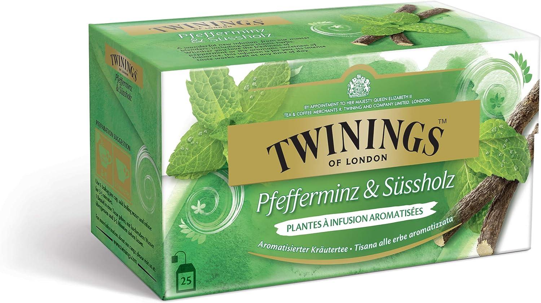 Twinings té de menta y regaliz 25 bolsitas de té: Amazon.es: Alimentación y bebidas