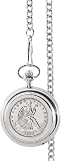 product image for Silver Seated Liberty Half Dollar Pocket Watch