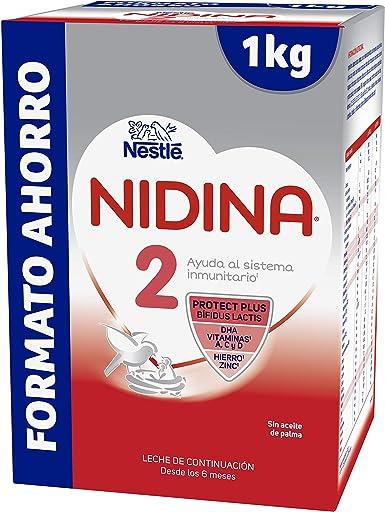 NESTLÉ NIDINA 2 Premium [PACK AHORRO] - A partir de los 6 meses - Leche de continuación en polvo - Fórmula para bebés - 1Kg: Amazon.es: Alimentación y bebidas