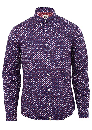 e942debb35f Pretty Green Rindle Shirt Mid Blue  Amazon.co.uk  Clothing