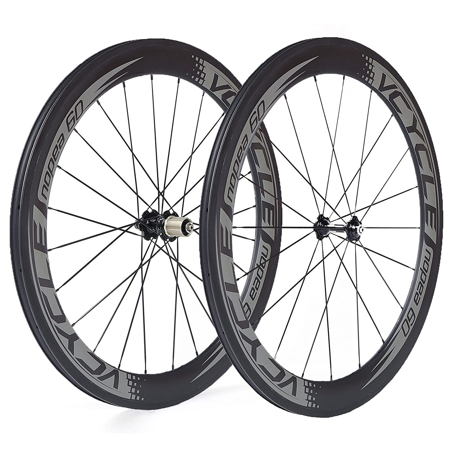 vcycle nopea 700 Cカーボンレーシングロード自転車ホイールセットクリンチャー60 mm深23 mm幅1785 G Shimano SRAM O 8 / 9 / 10 / 11スピード B01N9KGHSW Front&Rear Wheel Front&Rear Wheel