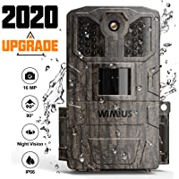 WiMiUS Cámara de Caza 16MP 1080P, Camara Caza