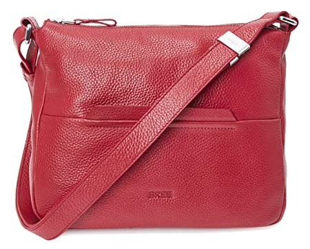 Bree Faro 2 Cross Shoulder Bag Grosse M Hobo Form Brick Red