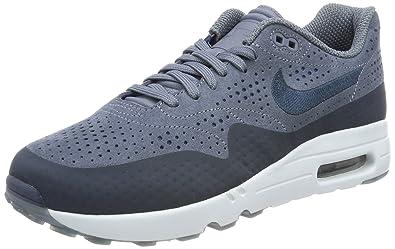 nike air max 1 uomini ultra moiré basso top sneakers, blu (wolf