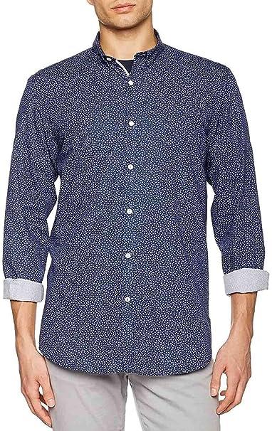 El Ganso Cuello Club Classic Fit Motivo Flores Mas Topos Camisa Casual, 41 para Hombre: Amazon.es: Ropa y accesorios