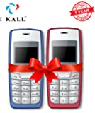 IKALL 1.4 -inch Display Feature Mobile Combo- K 72 (Light Blue and Red)
