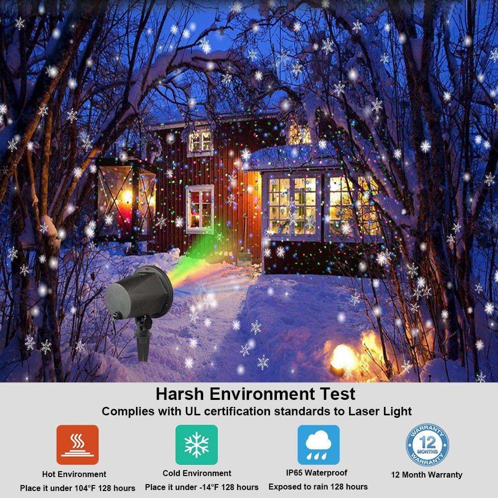Luz de Proyector Navidad Lámpara LED Luz de Proyección InnooLight Aluminio RGB (Rojo, verde y azul )IP65 Impermeable Interior/Exterior, Iluminacion ...