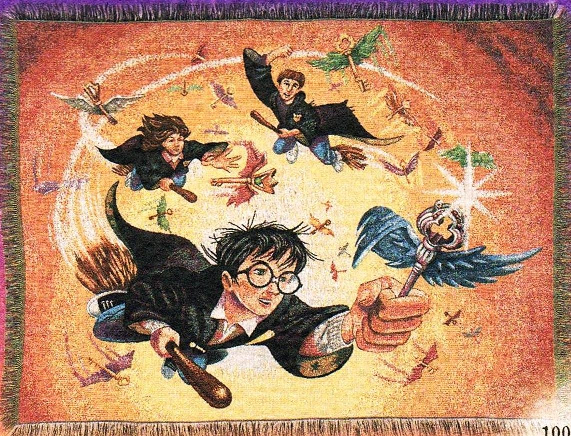 Harry Potter Tapestry Throw Blanket ''The Key'' 100% Cotton
