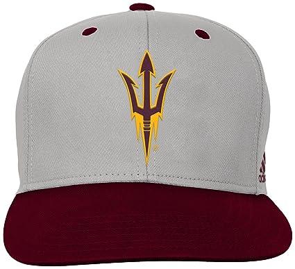 b78db91ca8022 Outerstuff NCAA Arizona State Sun Devils Children Boys Grey 2-Tone Flat  Brim Snapback Hat