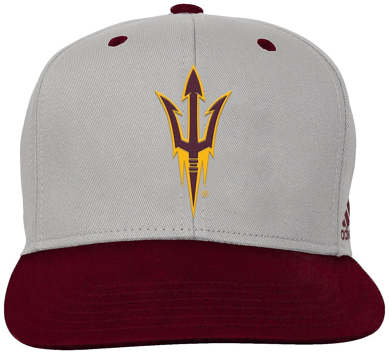 Classic Maroon NCAA Arizona State Sun Devils Youth Outerstuff Grey 2-Tone Flat Brim Snapback Hat Youth One Size