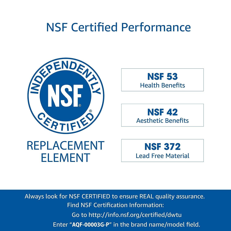 AQUACREST DA29-00003G Refrigerator Water Filter, NSF 53&42 Certified to  Reduce 99% Lead, Compatible with Samsung DA29-00003G, DA29-00003B,