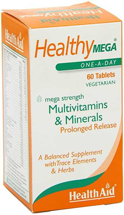 Health Aid Healthy Mega - Prolonged Release, 60 tabletas: Amazon.es: Salud y cuidado personal
