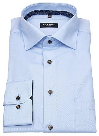 Eterna Hemd modern fit 59er Arm mit Karomuster blau weiß