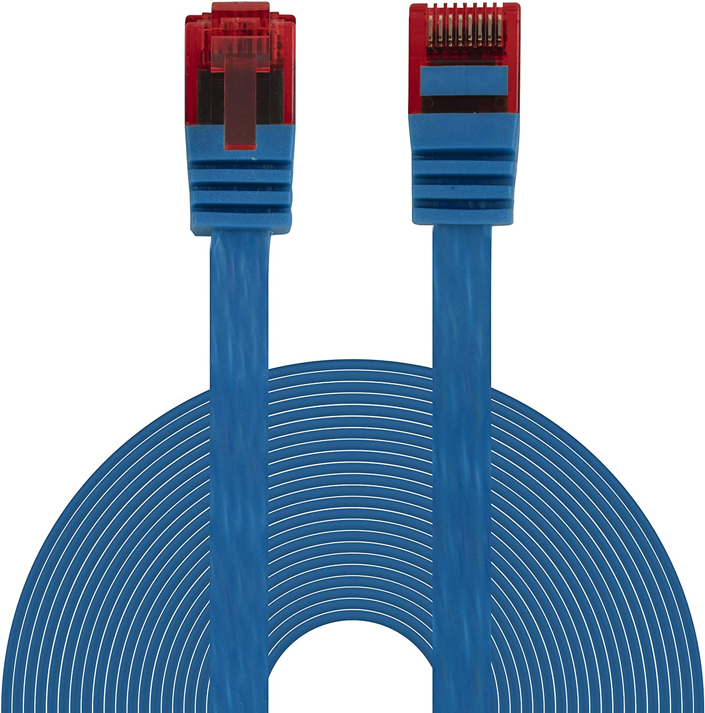 Bigtec Ethernet Lan Kabel 10m Flexibles Flaches Computer Zubehör