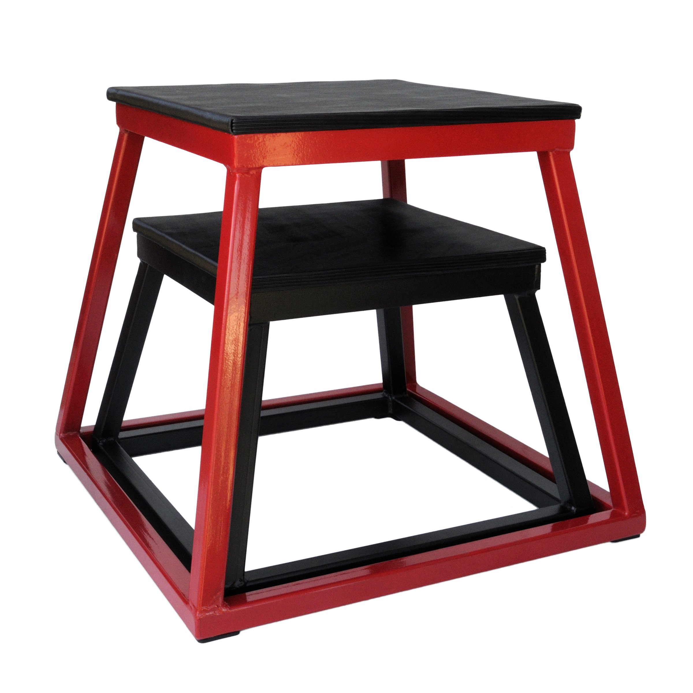 Ader 12'', 18'' Plyo Boxes (Black + Red)